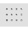 Interface icons vector image