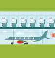 aeroplane at the airport vector image