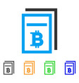 bitcoin price pages icon vector image