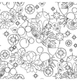 Graphic pattern with moon and succulents vector image