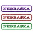 nebraska watermark stamp vector image