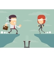 People blindly Concept of risk in business vector image