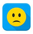 Sad Yellow Smiley App Icon vector image