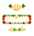 Banner Christmas Spruce with bells and ribbons vector image