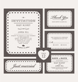 Set Classic Wedding Invitations vector image vector image