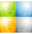 A tree in four different seasons vector image vector image