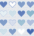 Love background with heart frames on blue pattern vector image vector image