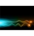 flash neon lines vector image vector image