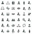 team work icon set vector image