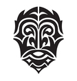 tribal man head vector image