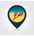 Maracas pin map icon Summer Vacation vector image