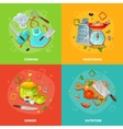 Cooking 2x2 Design Concept vector image