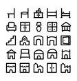 Buildings and Furniture Icons 11 vector image