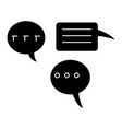 chats icon black sign on vector image