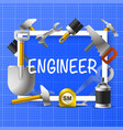 collage of an engineer in a frame vector image
