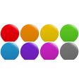 Colorful buttons on white vector image