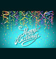 concept party on blue background top view happy vector image