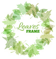 leaves frame vector image