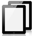 realistic computer tablet isolated on white vector image