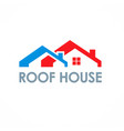 Roof house logo vector image