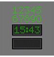 Scoreboard numbers isolated on grey vector image