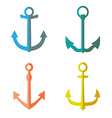Set of anchor symbols or logo vector image