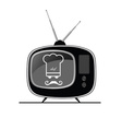 tv with chef on it vector image