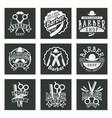 vintage barber logo retro style typography vector image