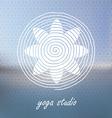 Yoga logo on Blured background Flower shaped vector image