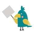 Wild animal zoo strike with clean plate board vector image