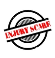 Injury Scare rubber stamp vector image
