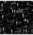 Seamless chalk board doodle web charts background vector image