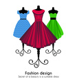 Colorful Dresses on the Mannequins Background vector image