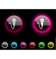 Mic button vector image