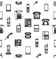 various phones symbols and icons seamless pattern vector image