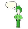 cartoon vampire man with speech bubble vector image