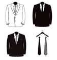 suit coats one color vector image
