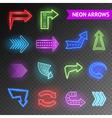 Bright Neon Arrows Set vector image