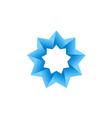 abstract blue star 3D logo vector image