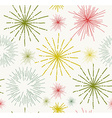 Abstract stars doodle seamless pattern vector image