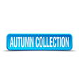 autumn collection blue 3d realistic square vector image