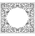 circle frame with vintage floral ornament vector image