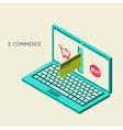 concept of online shop vector image