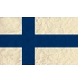 Finland paper flag vector image