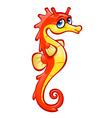 orange seahorse vector image