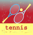 poster tennis vector image