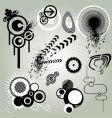 retro design element vector image vector image
