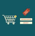 Website page online shopping design vector image