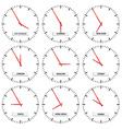 clock faces - timezones vector image