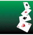Poker background vector image vector image